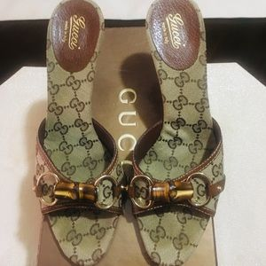 Women Gucci heels size 8 (gently used)
